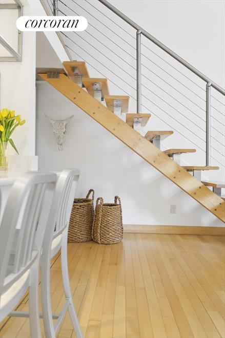 Elegant Stairs to Large Sleeping Loft
