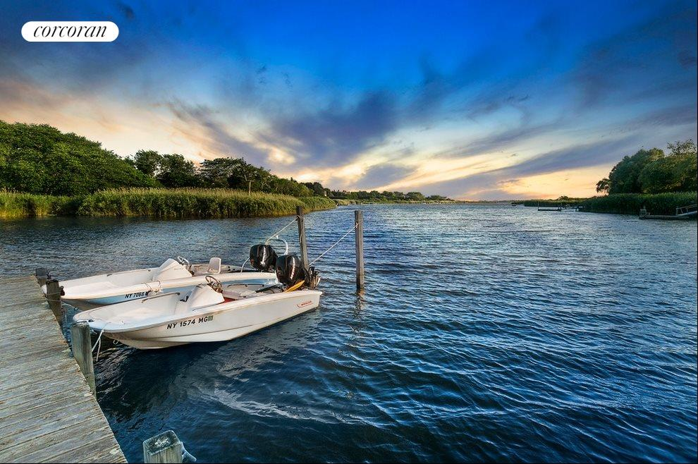 Deeded dock access to acres of Mecox Bay
