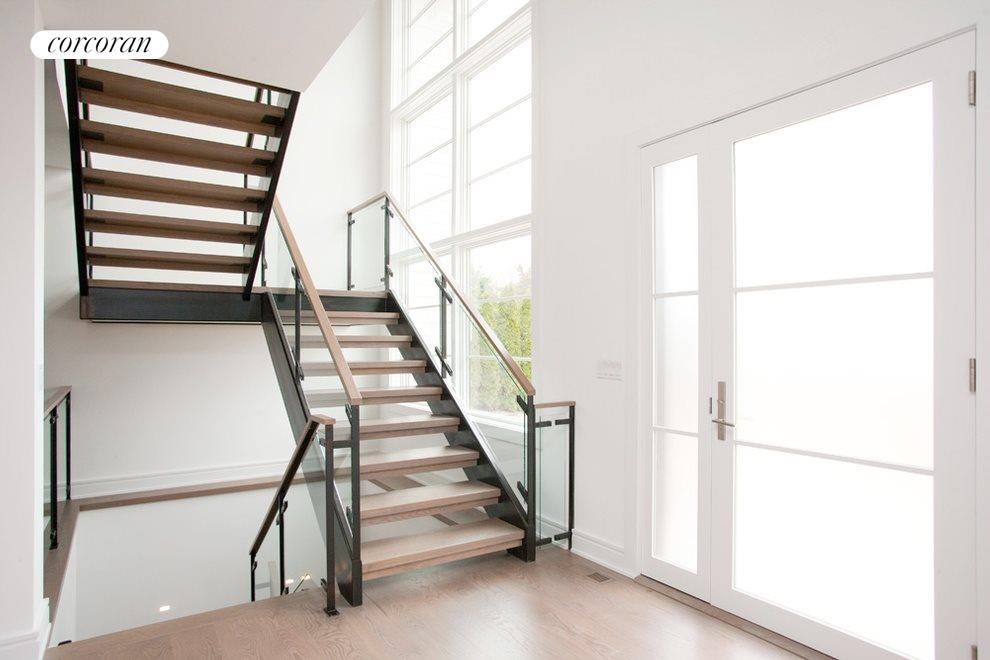 Stunning steel and glass staircase