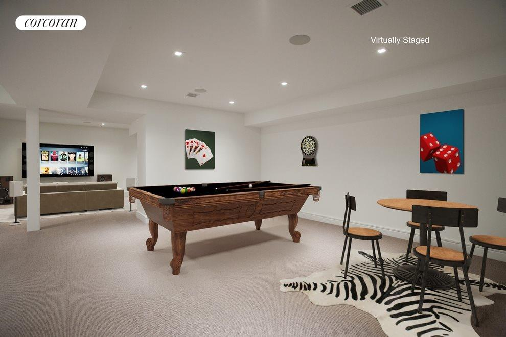 Virtual staging of lower level