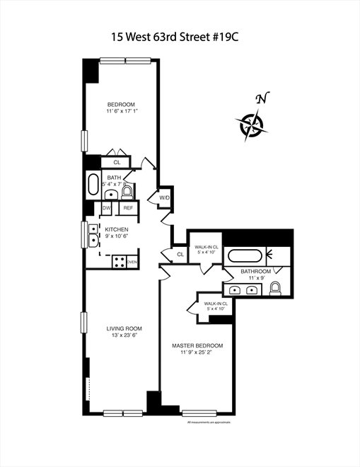 New York City Real Estate | View West 63rd Street | Floorplan