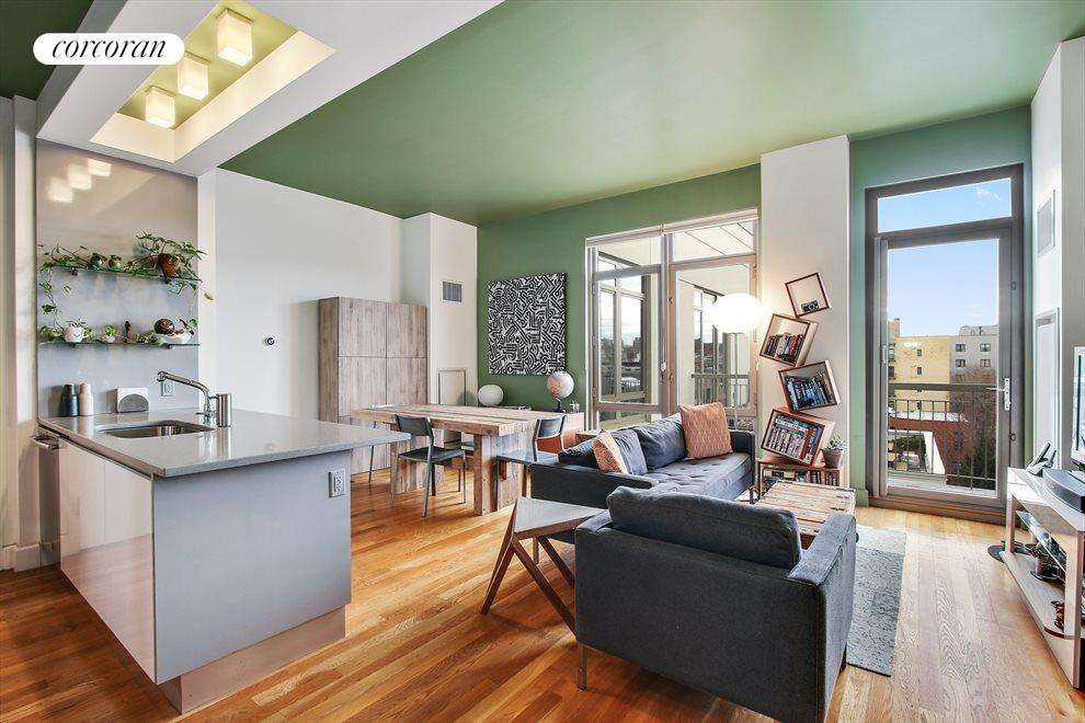 Beautiful open living, dining, and kitchen