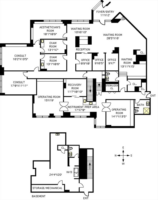 New York City Real Estate | View 200 East End Avenue, #A | Floorplan