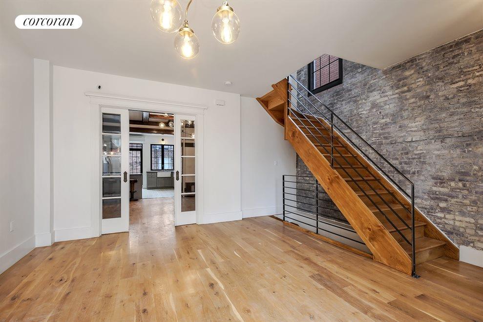 Living Room w Exposed Brick