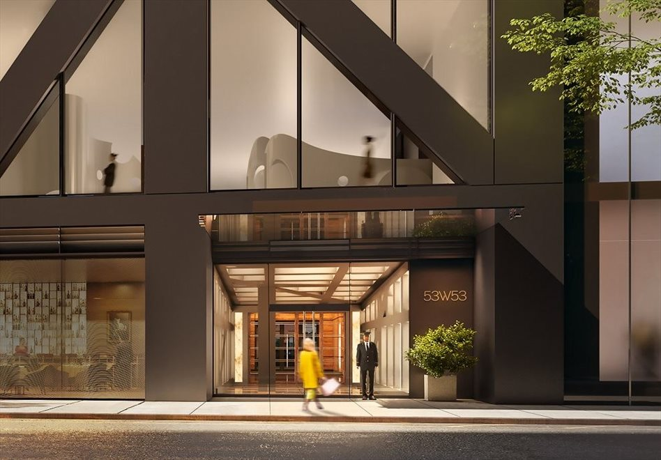 New York City Real Estate | View 53 West 53rd Street, #30B | 53rd Street Lobby Entrance with 24-hour Doorman
