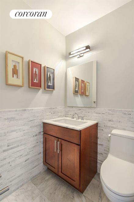 Gorgeous Marble Powder Room
