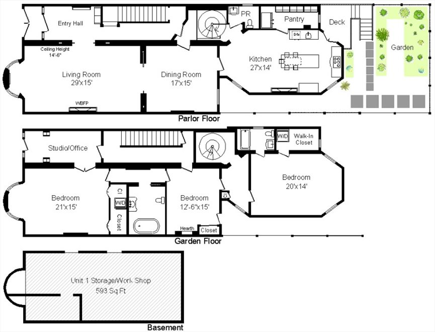 New York City Real Estate | View 313 Clinton Avenue, #1 | Floorplan