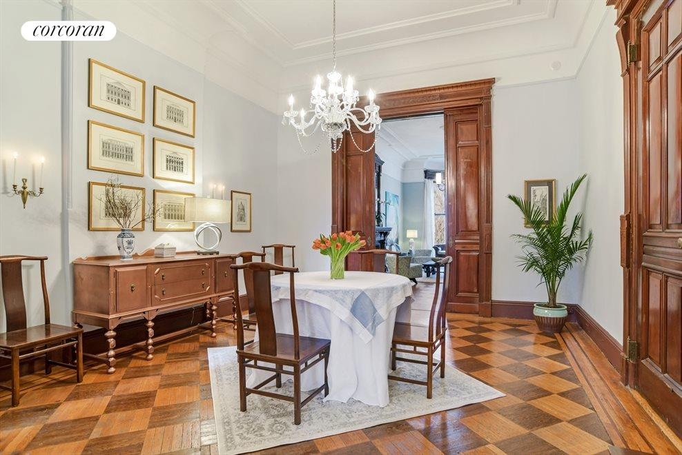 New York City Real Estate | View 313 Clinton Avenue, #1 | Serene Dining Room