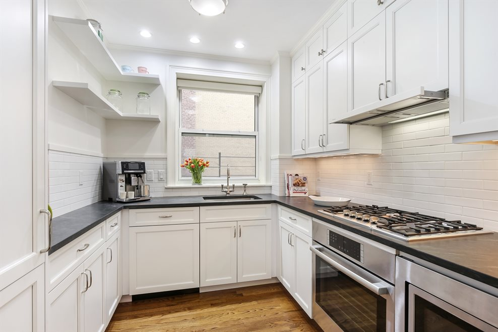 New York City Real Estate | View 215 West 88th Street, #10G | Windowed chef's kitchen