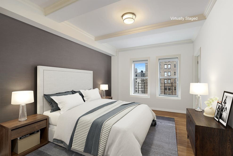 New York City Real Estate | View 215 West 88th Street, #10G | Grand master bedroom suite