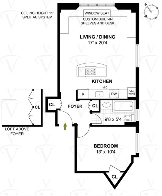 New York City Real Estate | View West 67th Street #6RE | Floorplan