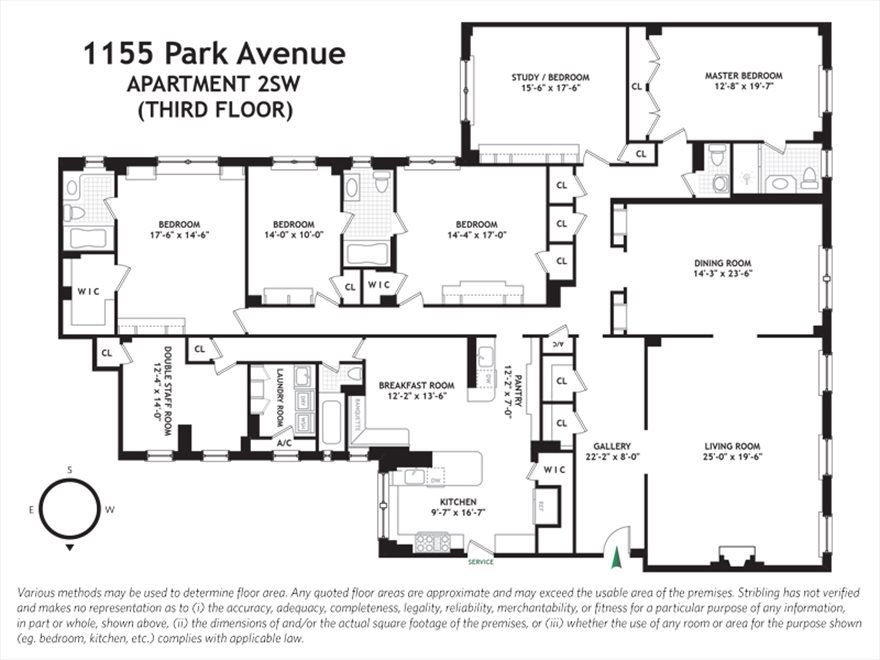 New York City Real Estate | View Park Avenue #2SW | Floorplan
