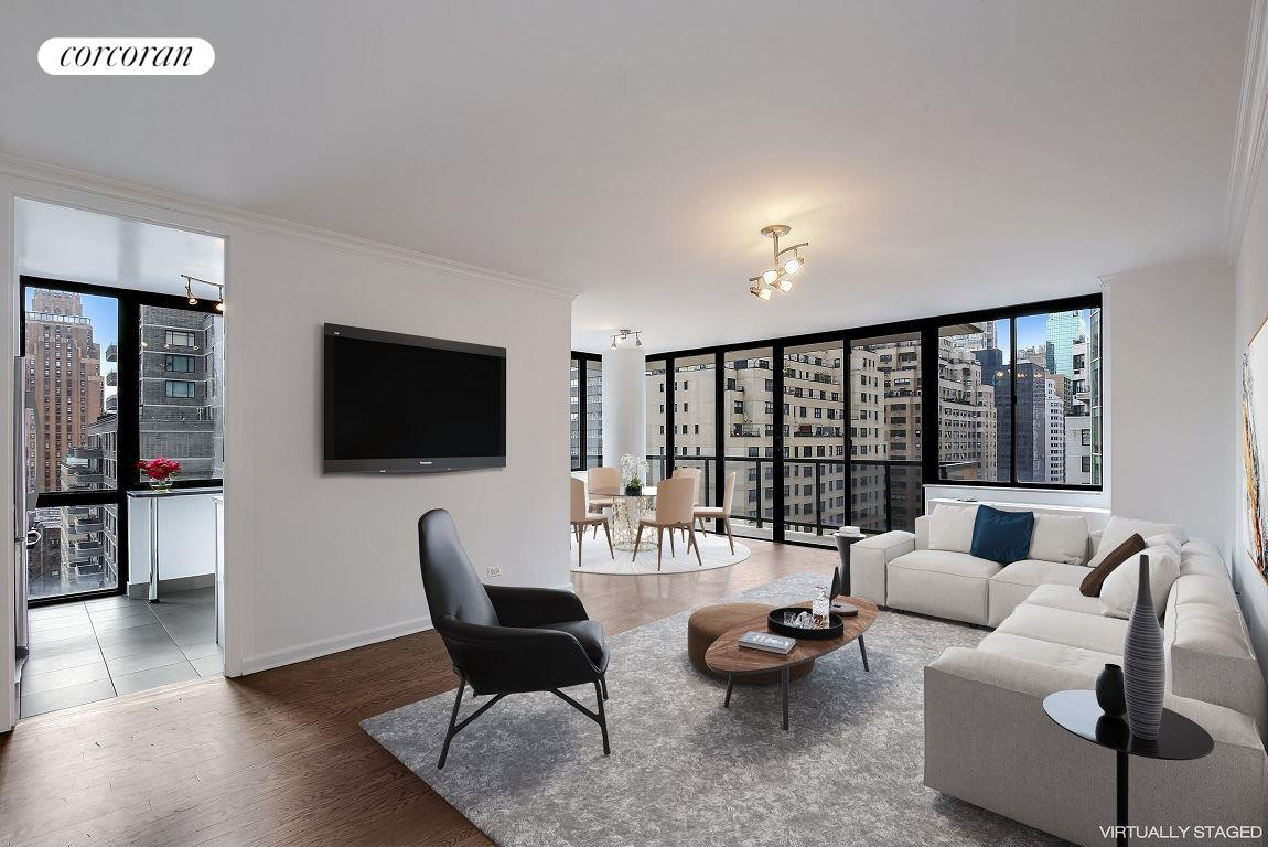255 East 49th Street, 15D, Living Room