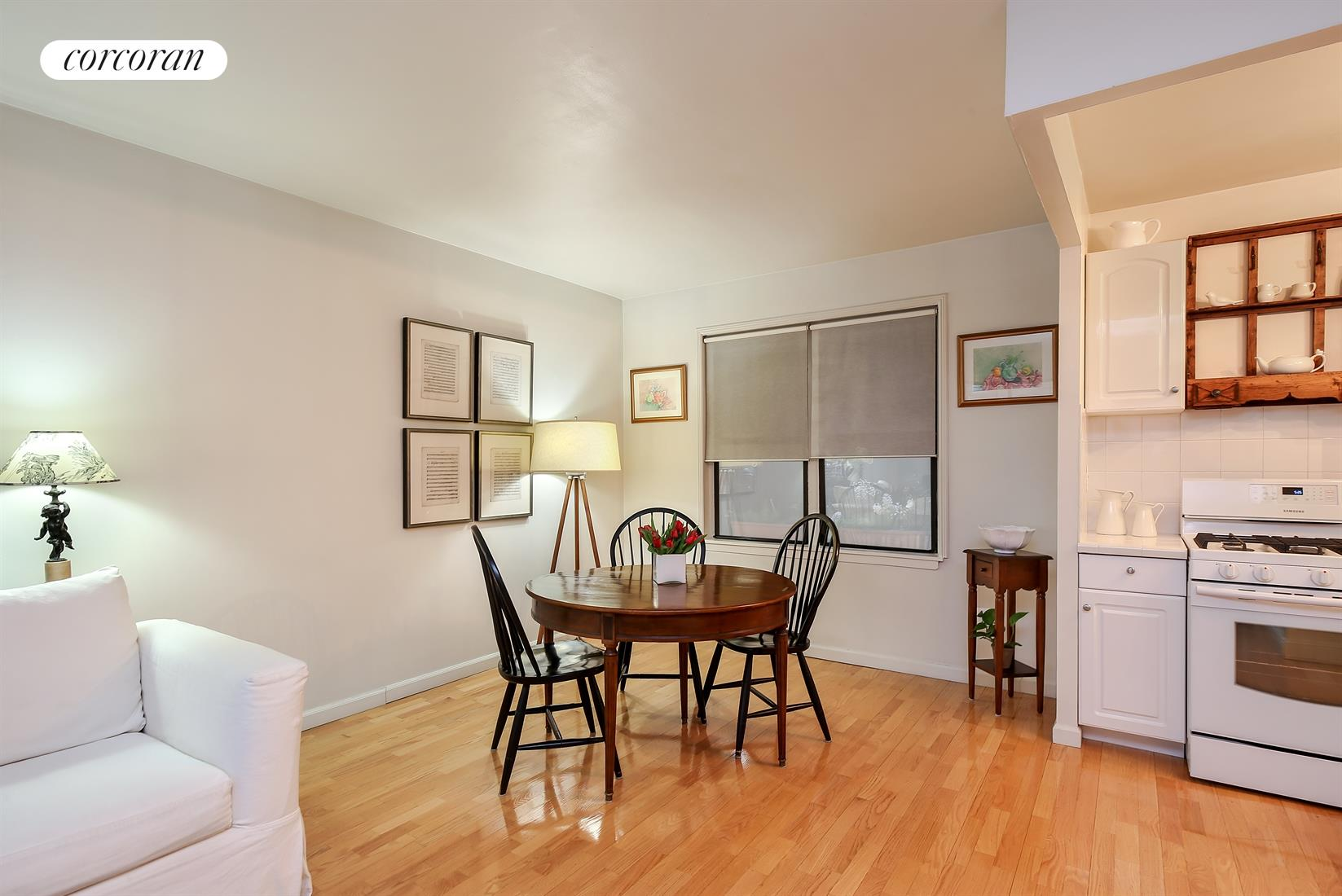 300 East 95th Street, 2B, Living Room with Built Ins