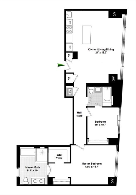 New York City Real Estate | View 8 Union Square South, #6B | Floorplan