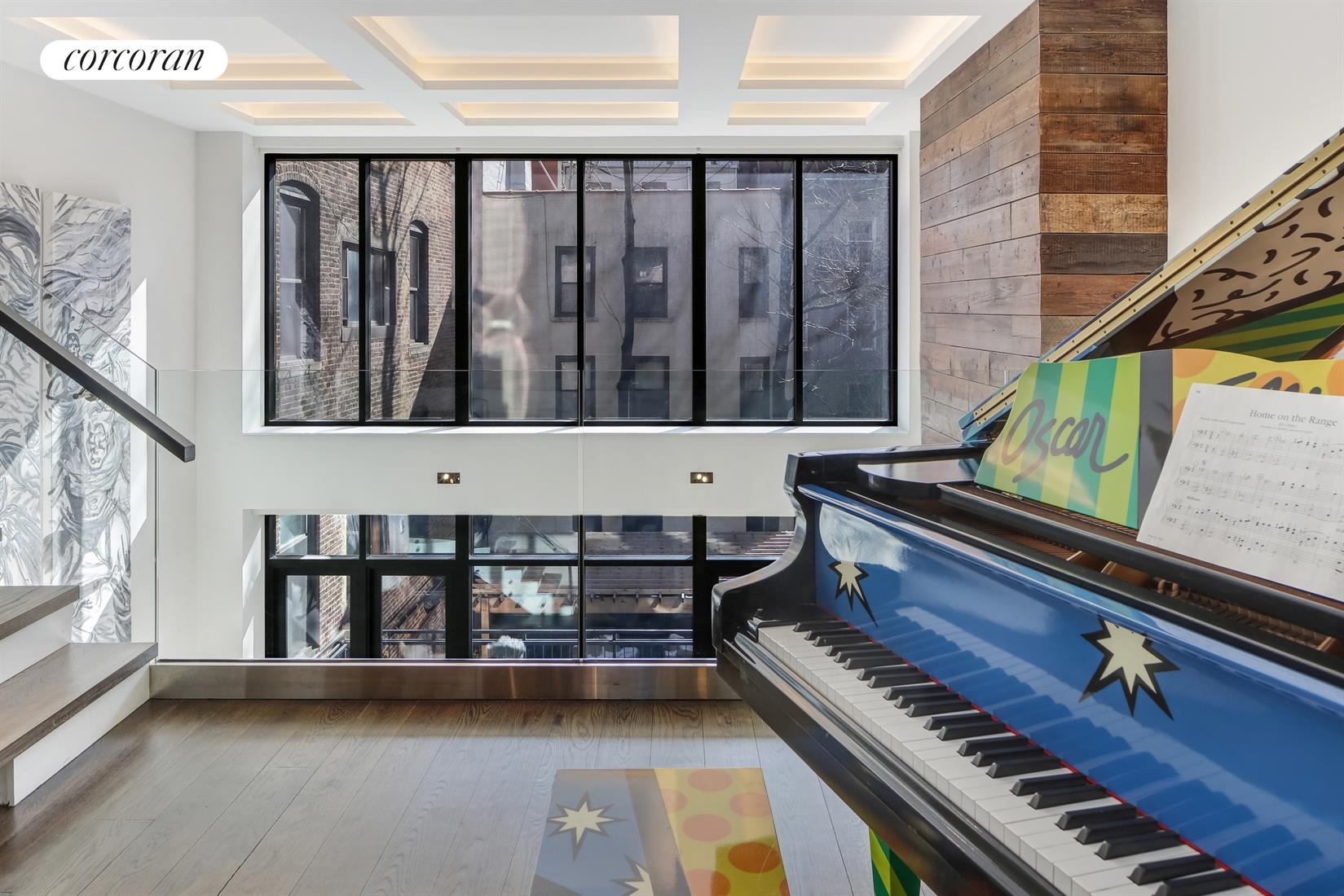 416 West 51st Street, Living Room from mezzanine