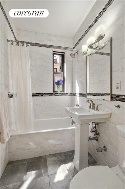 New York City Real Estate | View 100 West 12th Street, #1A | Renovated Bathroom