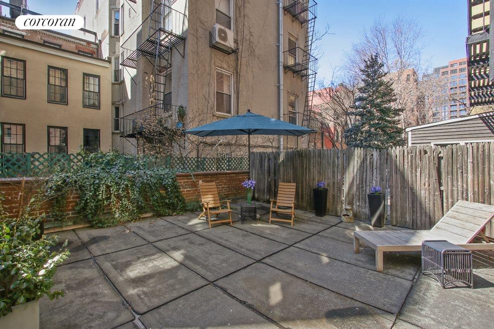 New York City Real Estate | View 100 West 12th Street, #1A | 500SF Back Yard