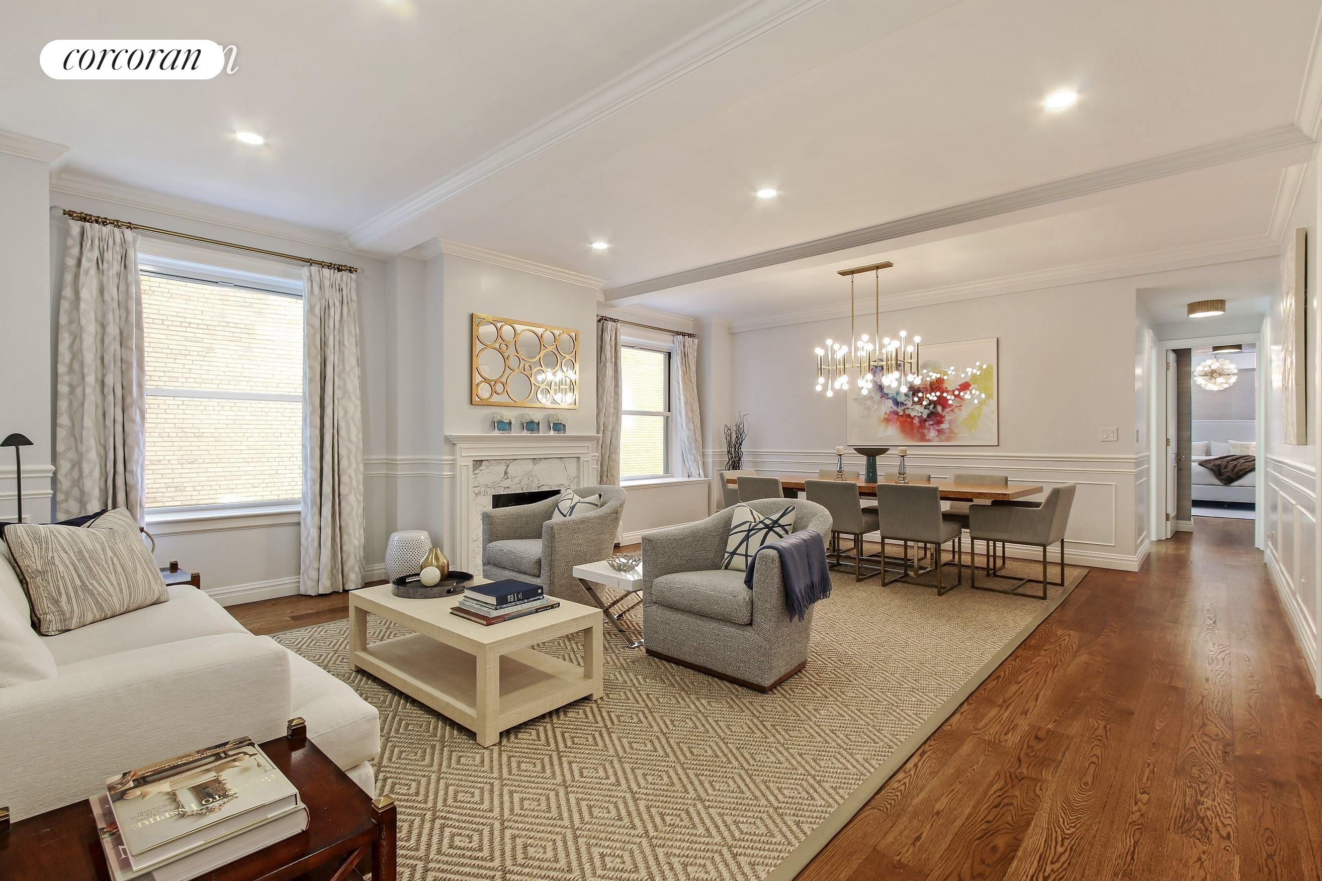 975 Park Avenue, 4D, Living Room/Dining Room