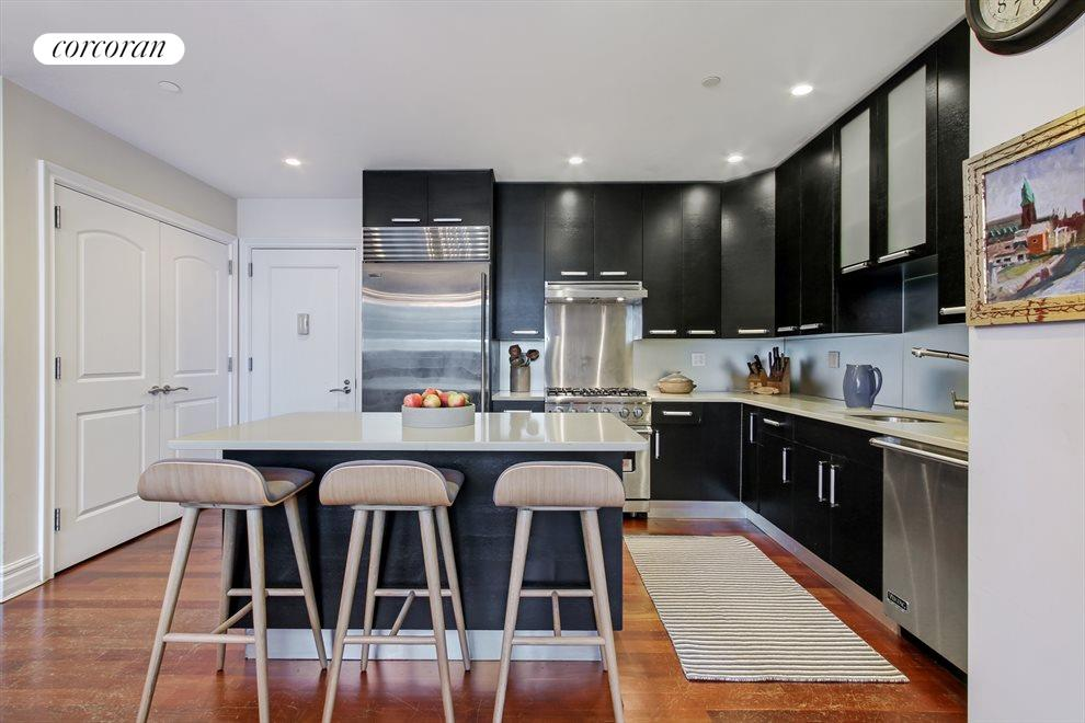 New York City Real Estate | View 233 Pacific Street, #4D | Open kitchen with Viking & Sub-Zero appliances