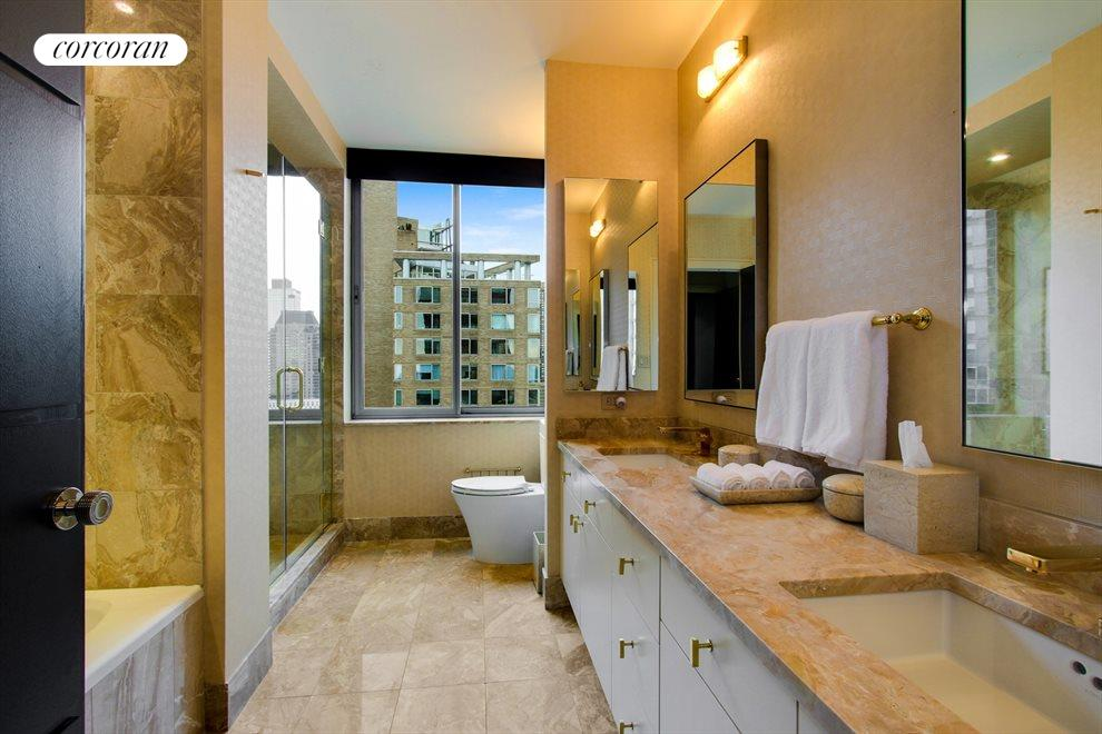 New York City Real Estate | View 111 West 67th Street, #28A | Master Bathroom
