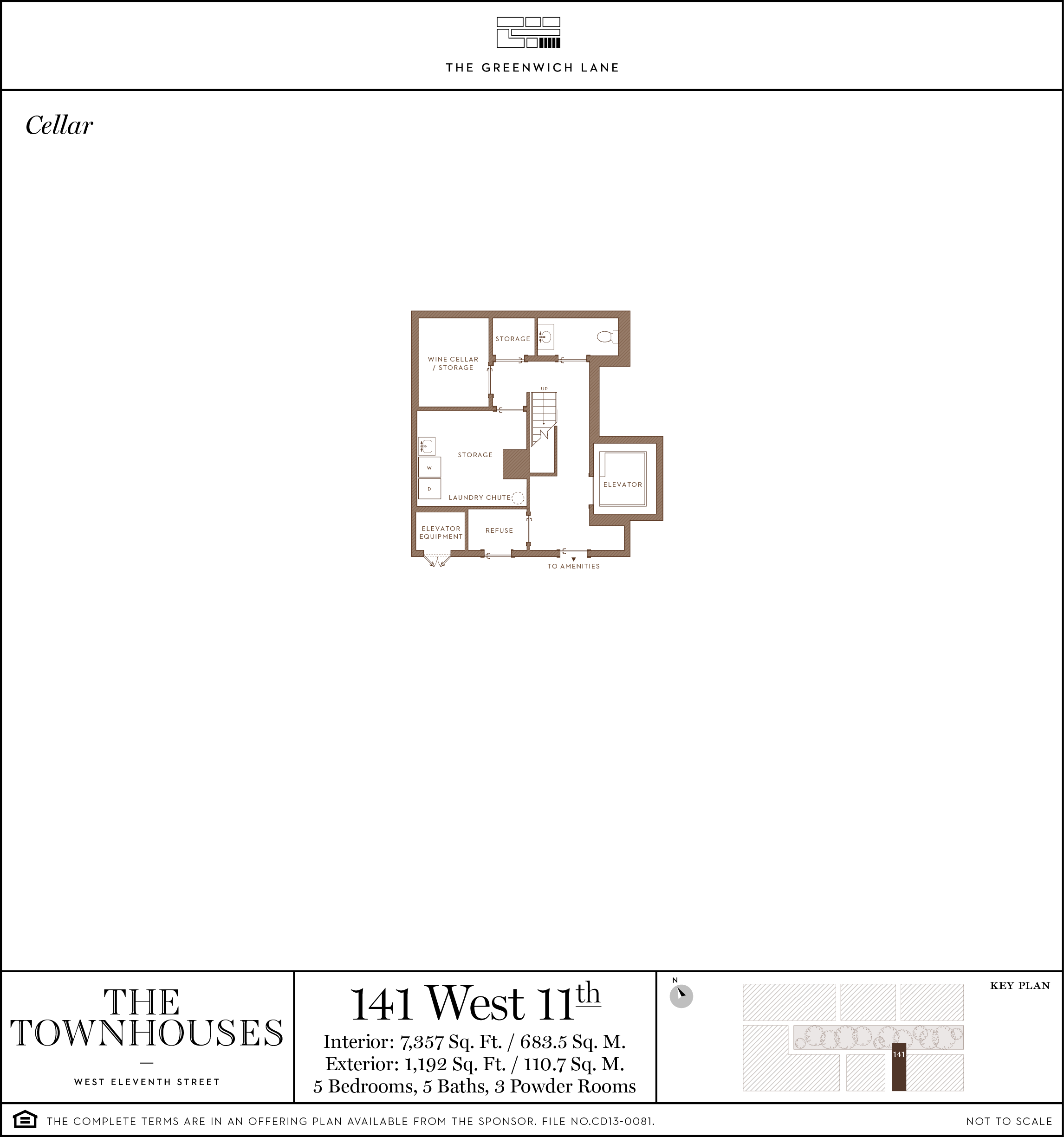 Cellar Level with Access to Parking and Amenities