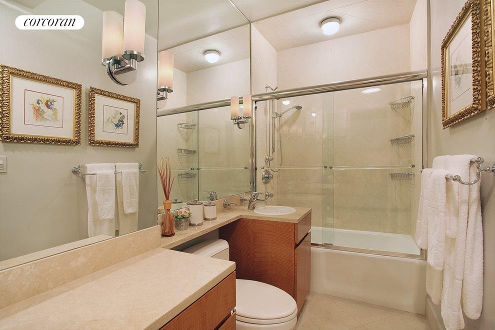New York City Real Estate | View 300 East 74th Street, #26D | Beautifully renovated spacious bathroom