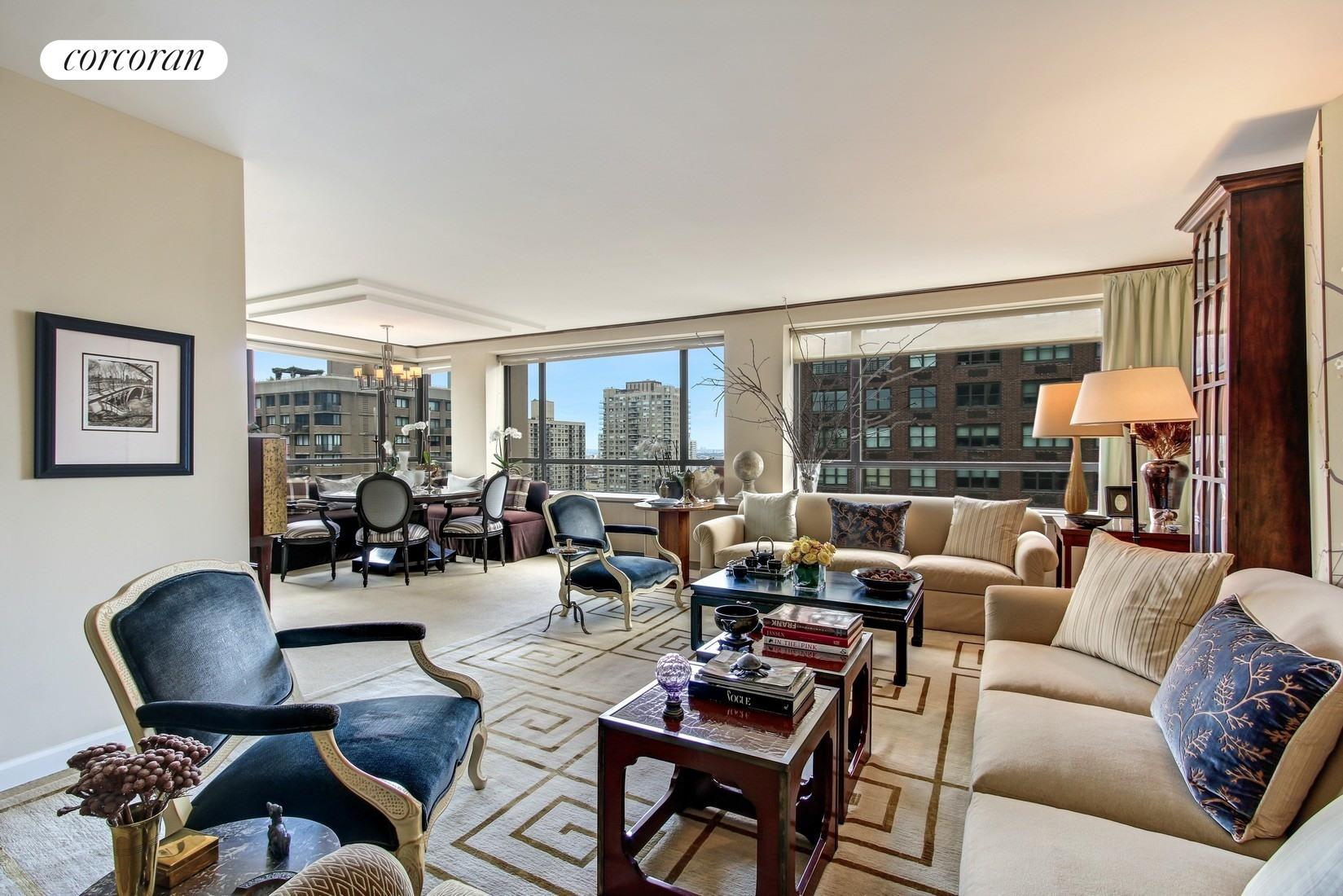 190 East 72nd Street, 26B, Sun-flooded Living Room