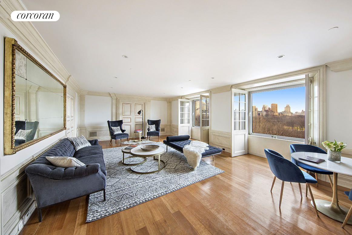 160 Central Park South, 915, Living Room
