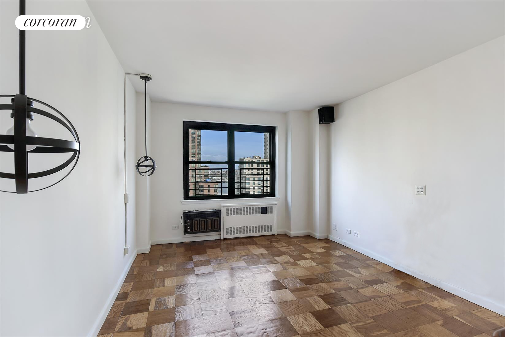 185 West End Avenue, 18A, Virtually Staged Living Room Over Looking River