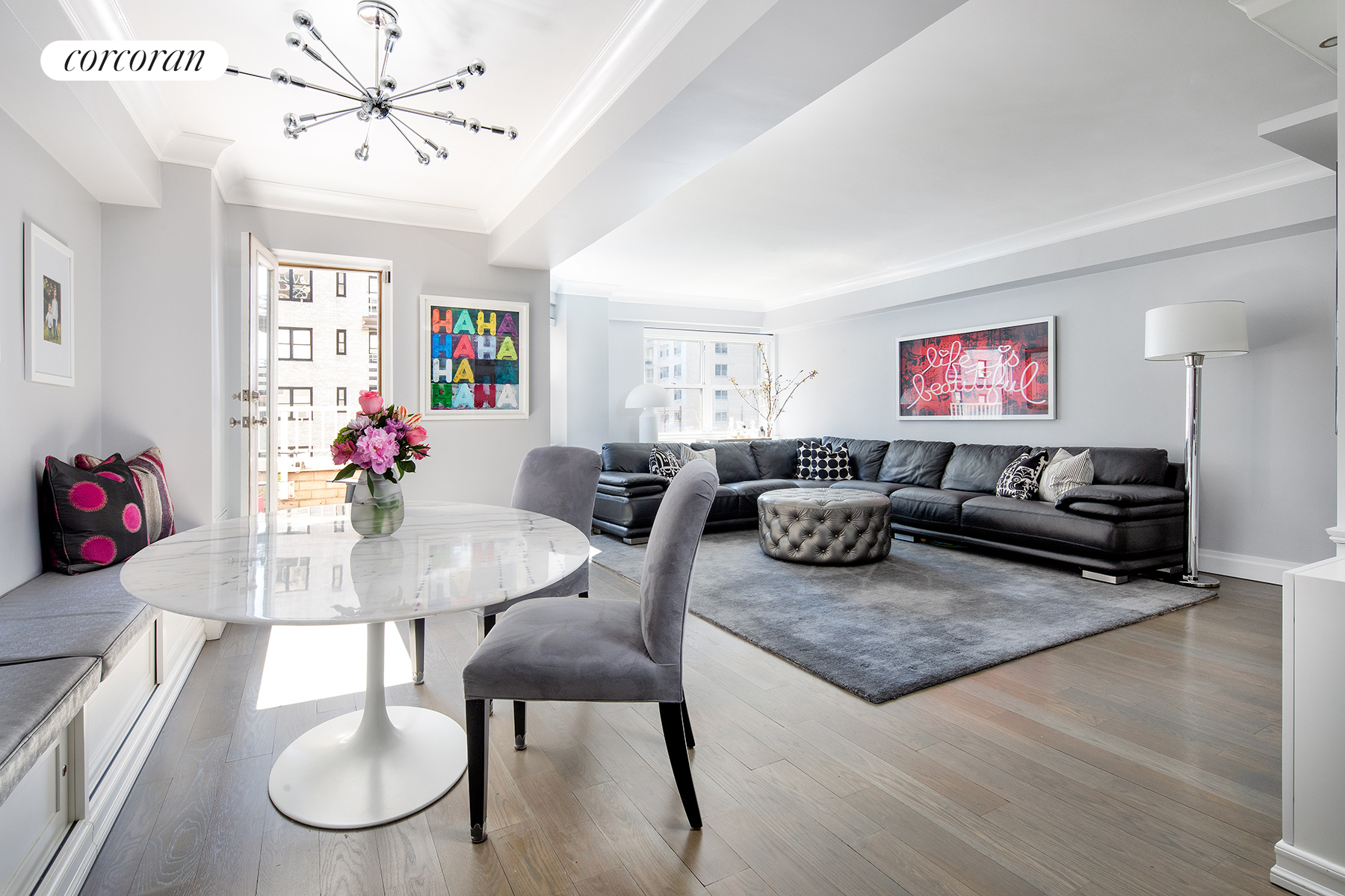 345 East 56th Street, 16F, Living Room Dining Room