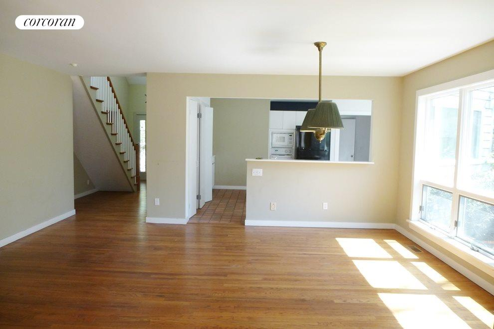Dining to living area with no furniture