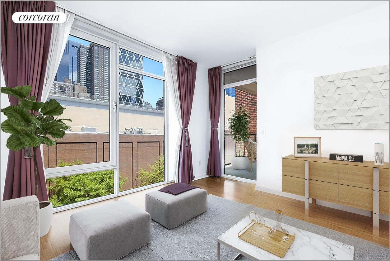 350 West 53rd Street, 5H, Living Room