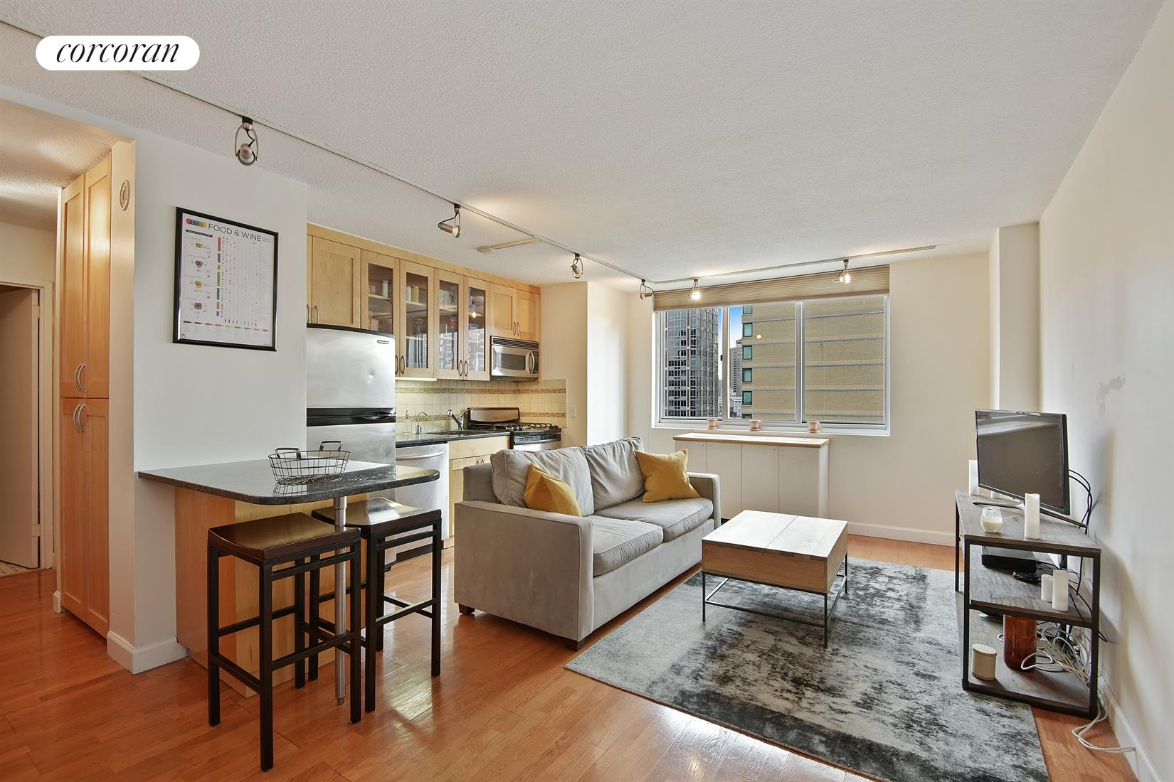 345 East 93rd Street, 19E, Living Room