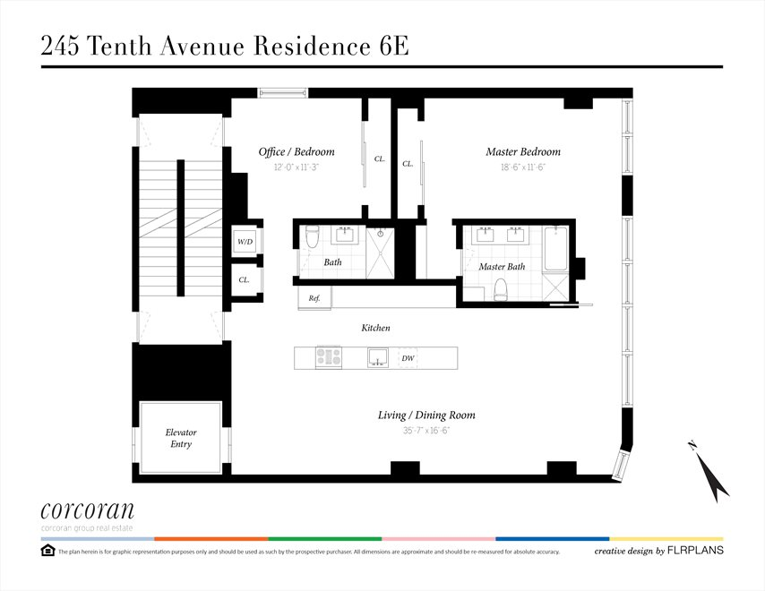 New York City Real Estate | View 245 TENTH AVE, #6E | Floorplan