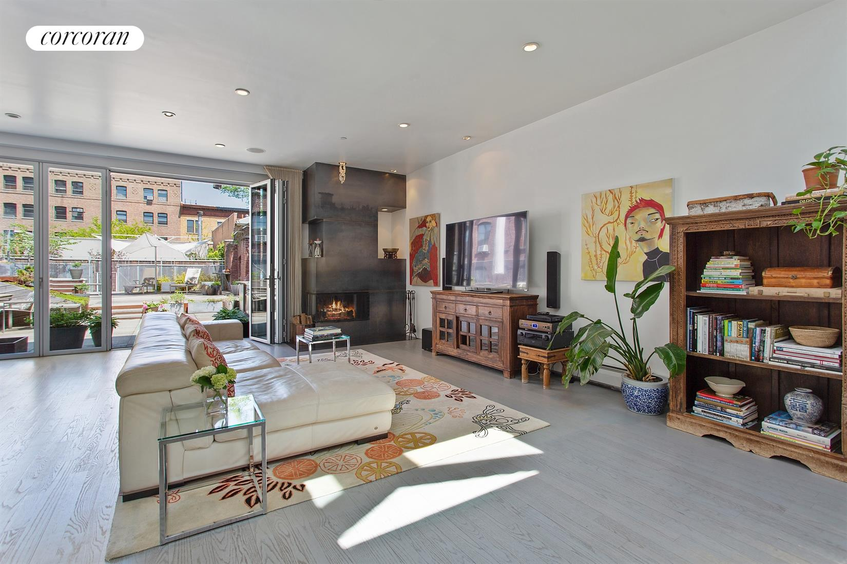 444 12th Street Loft B Living Room
