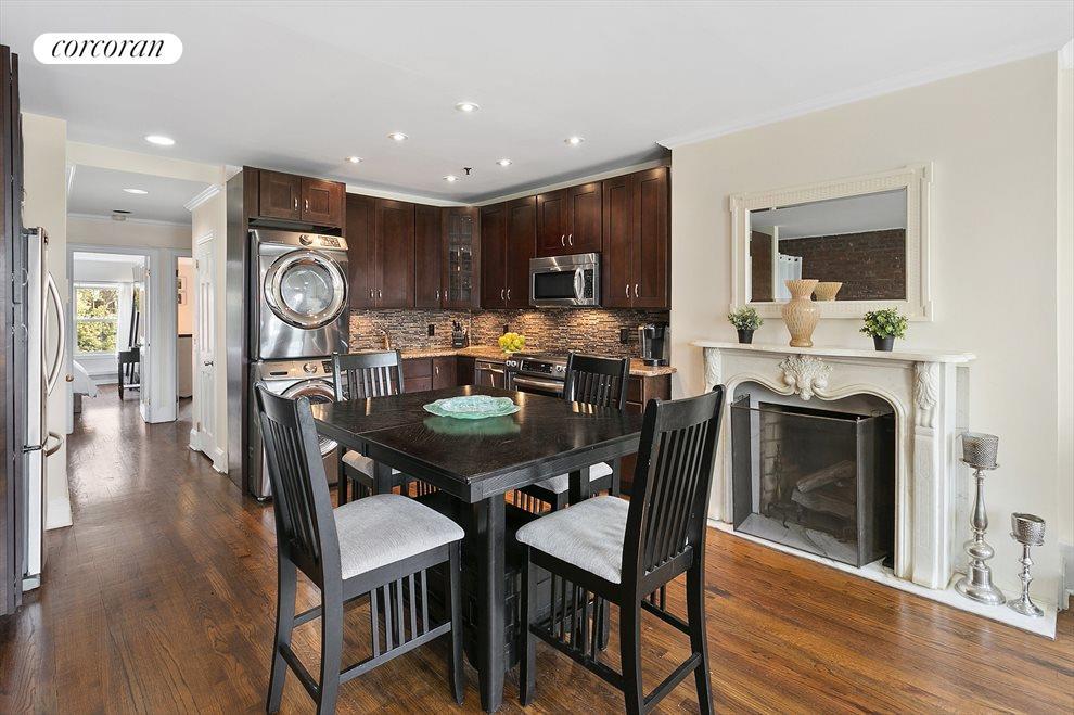 Dining area with stunning hardwood floors