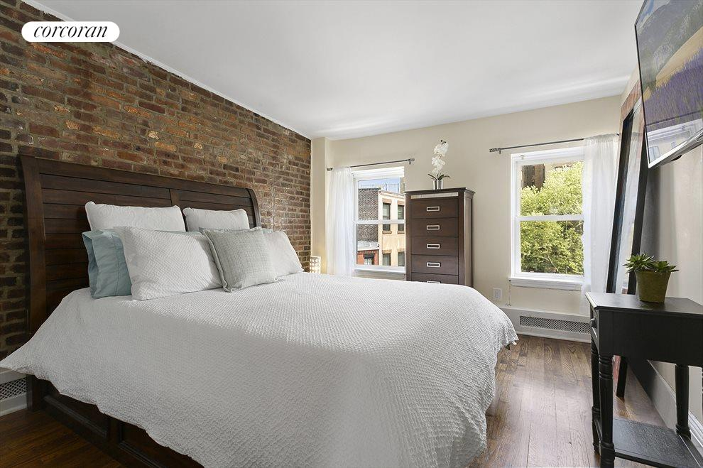 Master bedroom with 2 full size windows and closet