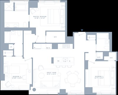 New York City Real Estate | View 389 East 89th Street, #29A | Floorplan