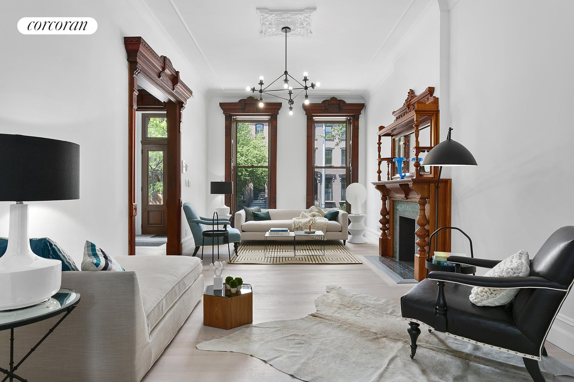 194 MacDonough Street, Grand Parlor Mixing Traditional & Contemporary