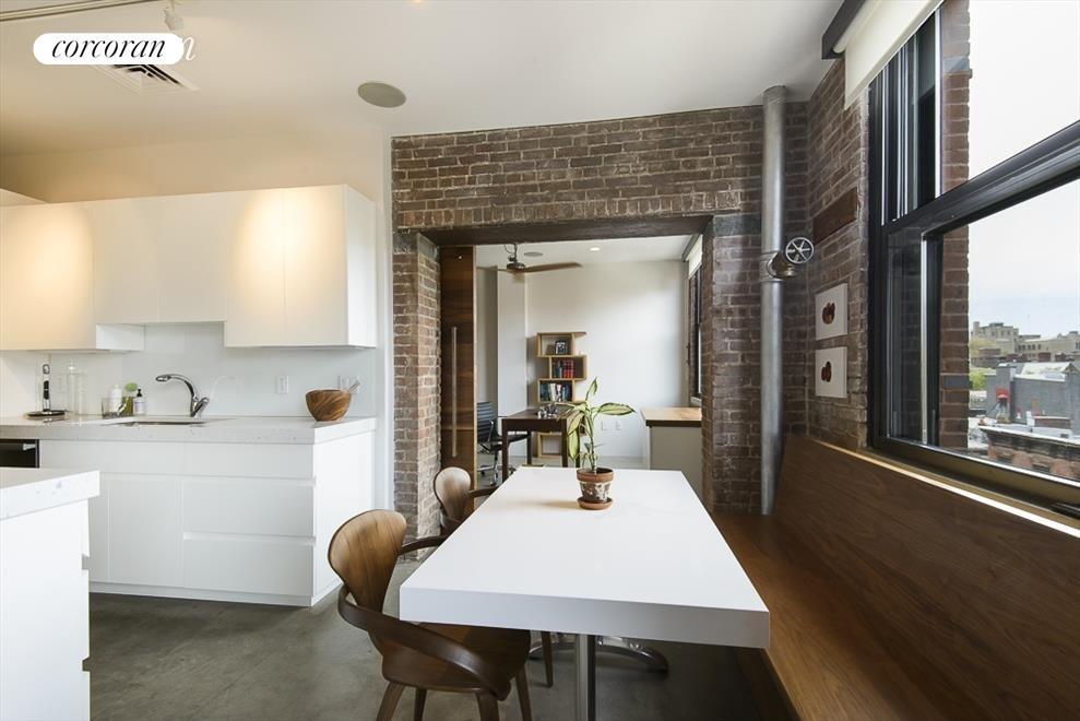eat-in windowed kitchen