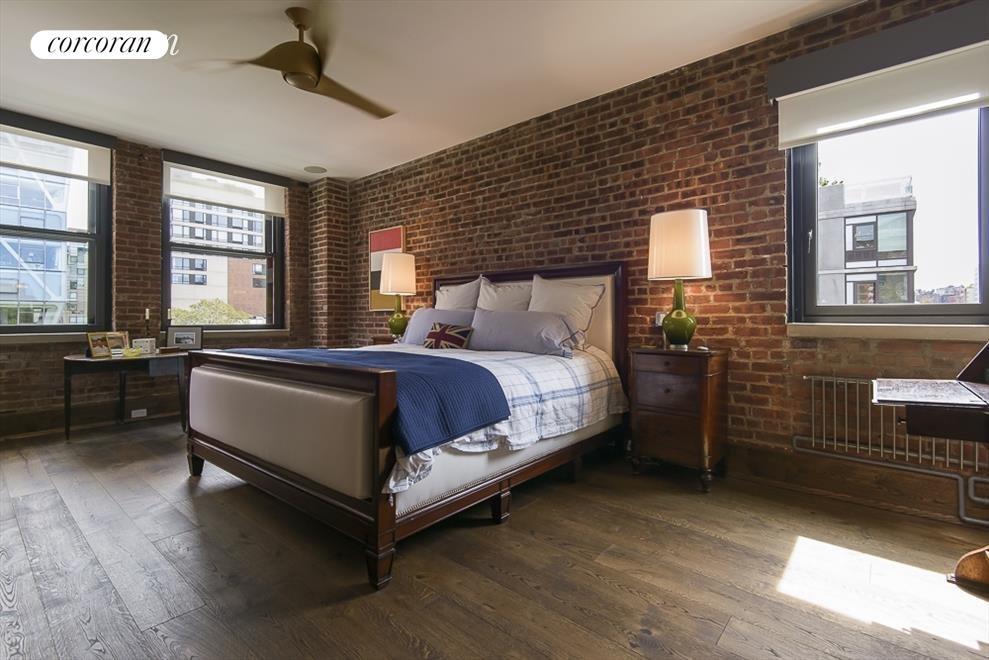 corner master bedroom overlooks Highline