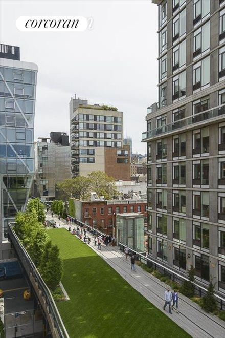 north views over Highline from masterbedroom