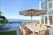Sag Harbor, Terrace Overlooking Pool And Peconic Bay