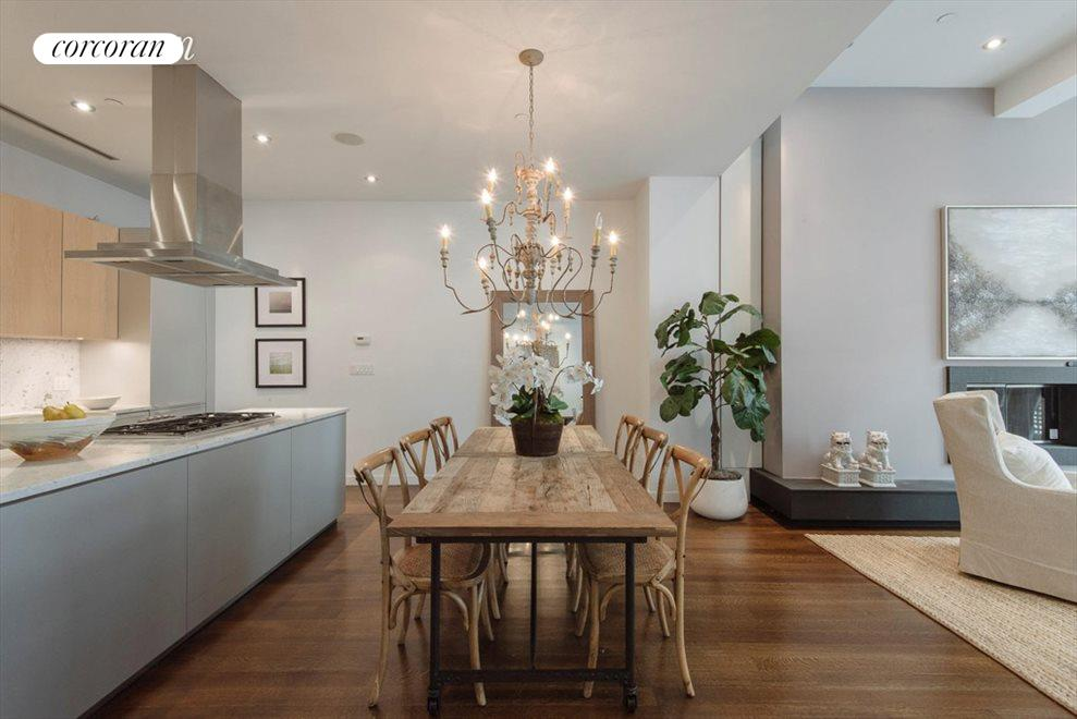 Dining Room with open Bulthaup kitchen