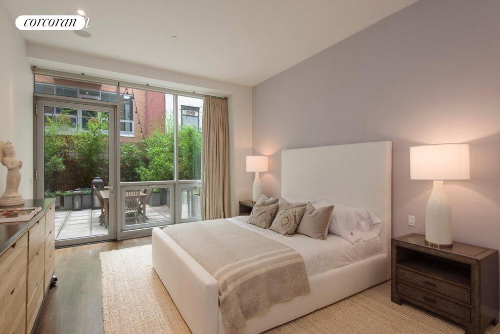 Master bedroom suite opens onto terrace