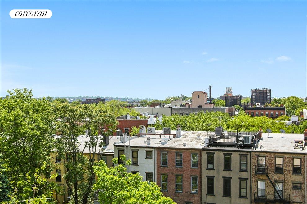 New York City Real Estate | View 220 Congress Street, #6F | Open Brooklyn views from bedroom