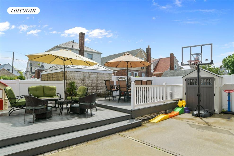 Large backyard with more views