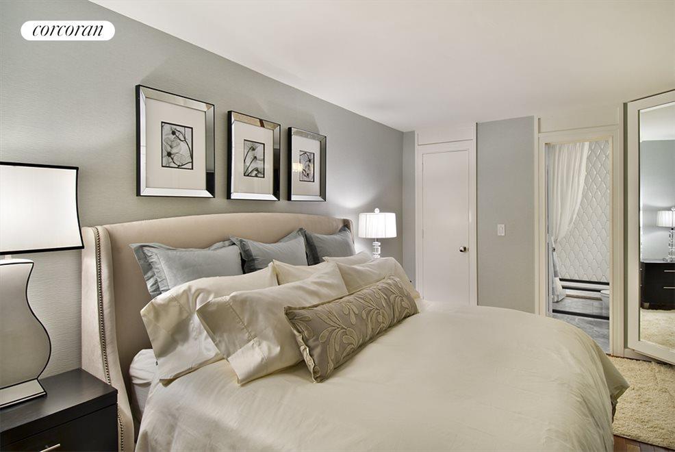 Spacious Bedroom has walk-in Closet