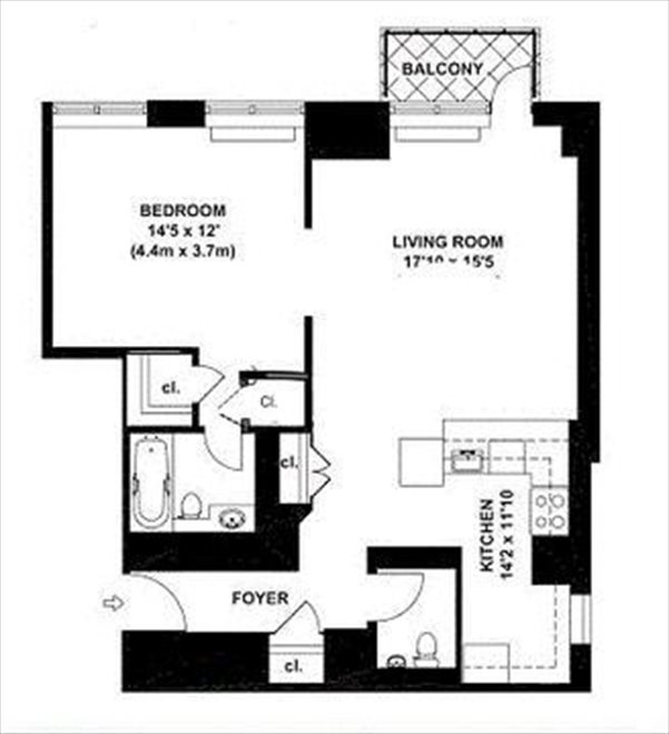 New York City Real Estate | View East 40th Street | Floorplan